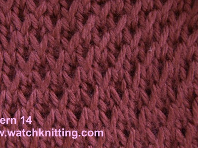 Simple Patterns - Free Knitting Patterns Tutorial - Watch Knitting - pattern 14