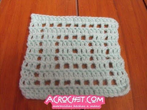 Tejiendo un cuadrado sin fin en crochet y con la tecnica del tejido filet