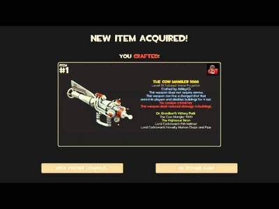 TF2| How to craft the Cow Mangler 5000