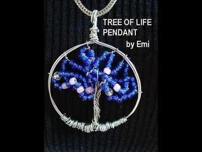 TREE OF LIFE PENDANT, how to diy, wire jewelry, beading, necklace charm
