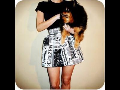 Tutorial DIY: falda básica tableada (newspaper print)