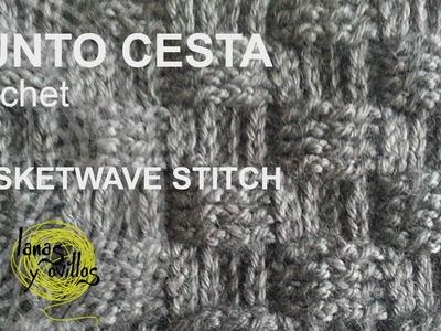 Tutorial Punto Cesta Crochet o Ganchillo (Basketwave stitch)