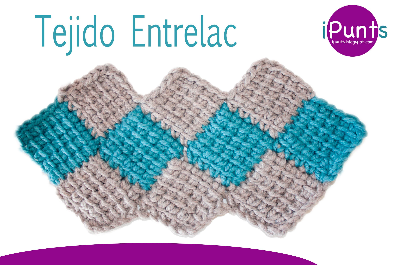 Tutorial tejido Entrelac (rombos) a crochet paso a  paso