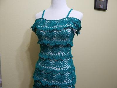 Vestido para Dama  Crochet parte 1 de 3
