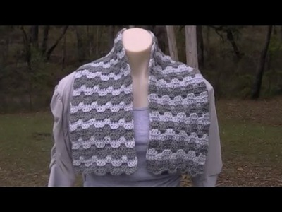 Victorian Step  Bargello Crochet Tutorial - From Scarf t- King Size Bed Afghan - Crochet