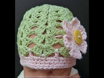 WATCH How To Crochet SPRING-SUMMER Hat For 3+ Months Old - EASY & FAST