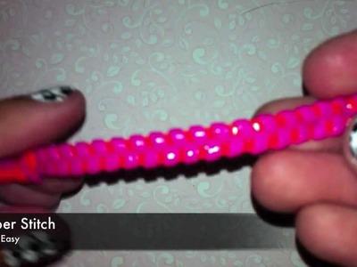 Zipper Stitch Tutorial~Gimp.Craft Lace.Boondoggle
