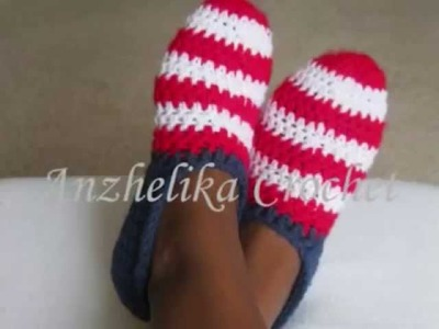 Adults Slippers  by Anzhelika Crochet