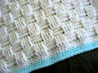 Basketweave Blanket Crochet Pattern