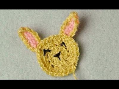 Bunny application crochet tutorial