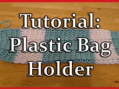 Crochet Plastic Bag.Grocery Sack Holder