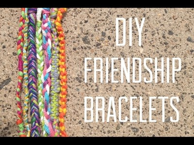 DIY: 7 EASY FRIENDSHIP BRACELETS
