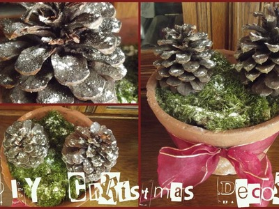 DIY Christmas Decorations❄Pine Cone Tree   Haley & Bronwen
