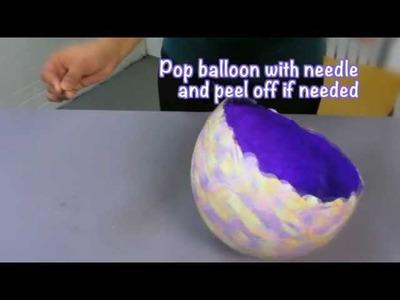 DIY Confetti Bowl with Aleene's Tacky Glue!
