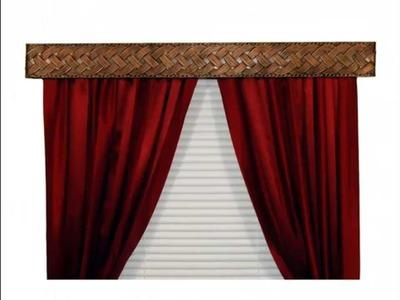 DIY creative unique inexpensive curtain rod ideas