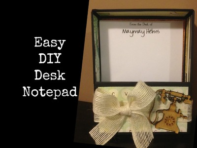 DIY Desk Note Pad Set Last Minute Gift Idea