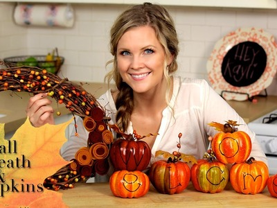 DIY Fall Wreath & Pumpkins!!