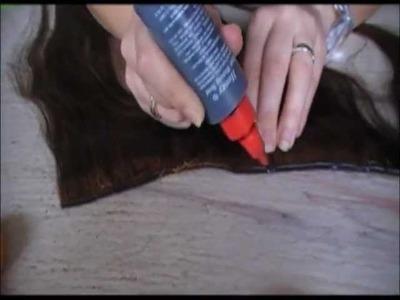 DIY Halo. flip in hair extensions tutorial part 1 of 2