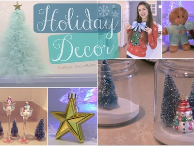 DIY Holiday Room Decorations. Winter Home Decor - Tulle Christmas Tree & More!