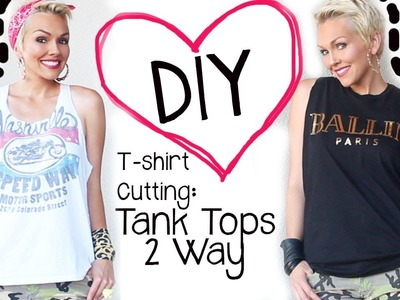 DIY How to Cut A T-Shirt 2 Ways into A Tank Top | Kandee Johnson