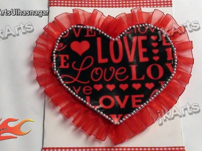 DIY How to make valentine's day Greeting Card - JK Arts 477