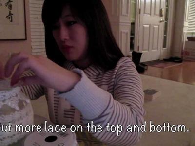 DIY Lace Candle Votives