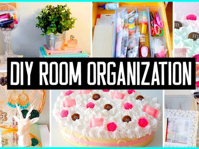 DIY room organization & storage ideas! Room decor! Clean your room for 2015