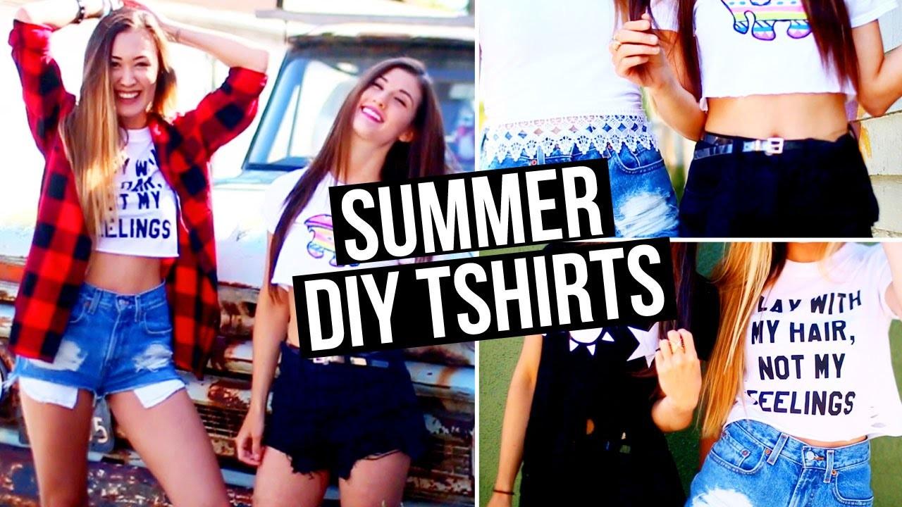 DIY Summer & Tumblr Inspired T-Shirts!! | LaurDIY