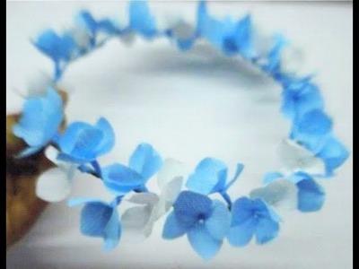 DIY Tiara. Crown of paper Flower