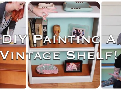 EASY Retro Furniture DIY: How to refinish and repaint a vintage shelf! by CHERRY DOLLFACE