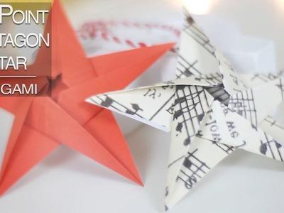 Five Point Pentagon Modular Origami Star | Nekkoart