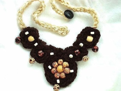 HOW TO CROCHET A STATEMENT NECKLACE