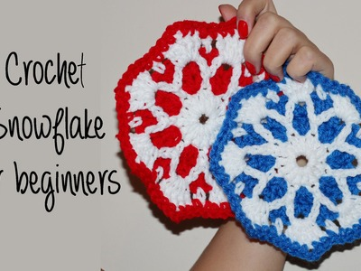 How To Crochet for Beginners #14: SNOWFLAKE