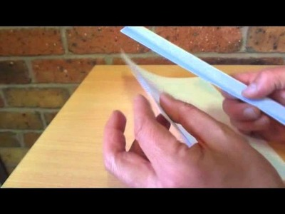 How to Cut Paper with Paper - How to Make a Simple Cutter from Paper - DIY