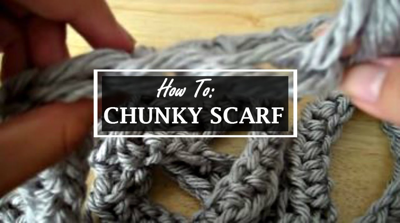 How to: Easily Crochet a Chunky Circle Scarf