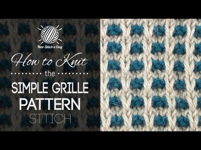 How to Knit the Simple Grille Pattern (Left Handed)