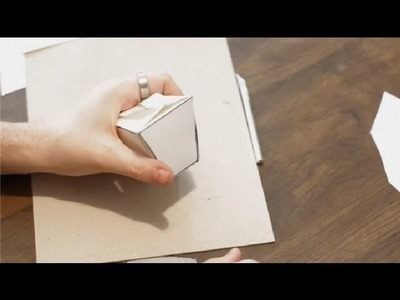 How to Make a Container Out of a Sheet of Paper : Paper Crafts