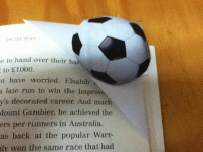 How to Make a Football Bookmark - Origami Soccer Paper Bookmark - Step by Step Instructions - DIY