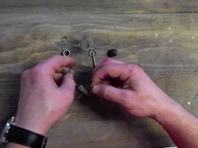 How to make a metal embelishment for your scrapbook with Garett Smith
