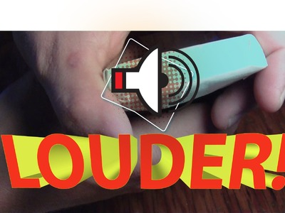 How to make any iPhone LOUDER for FREE!  Loudspeaker for any iPhone (DIY)