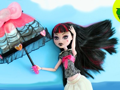 How to Make Doll Parasol  or open umbrella- Doll Crafts