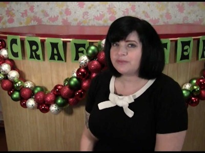 How to Make Holiday Ornament Garland