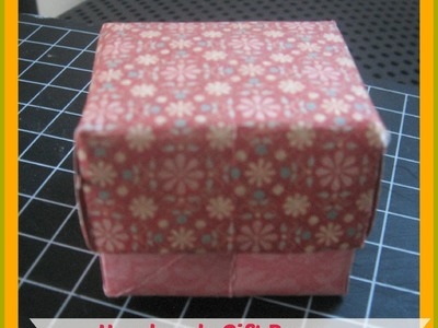 How to  Make your own gift box with lid.How to Make a Gift Box Out of Scrapbook Paper