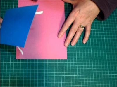 How to stick paper on straight on papercraft projects