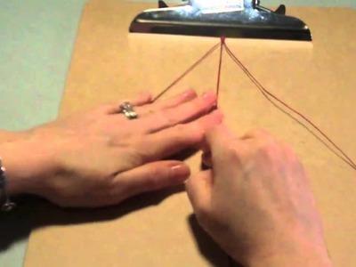 Irish Linen Wrap Bracelet Tutorial