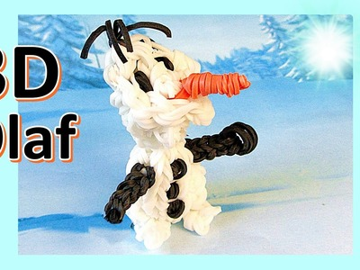Loom Bands: 3D Olaf Rainbow Loom Charm: Frozen (DIY Mommy)