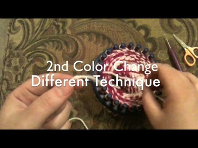 Loom Knit a Banded Beanie Hat Part 2 of 3