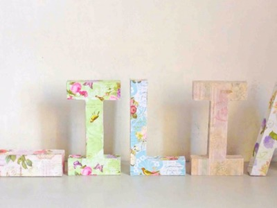 Make a Decoupage Kraft Letter Name Display - Crafts - Guidecentral