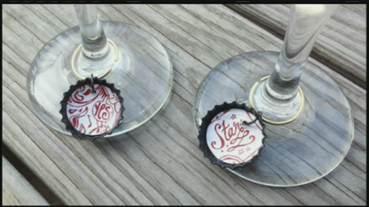 Mass Appeal DIY Bottle Cap Charms for Your Wine Glasses!