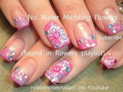No Water Needed  | DIY Marble nail art Tutorial | Nail Technique